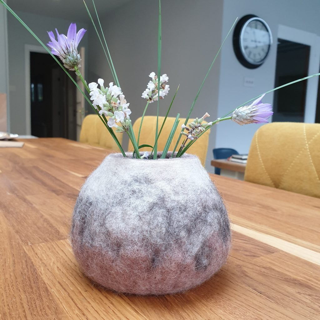 Handfelted bowl. Made to order in the colours of your choice.